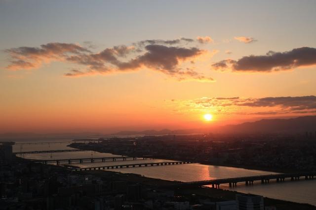 【2014/3/22撮影】神戸方向の夕景