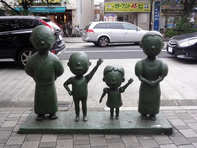 サザエさん銅像