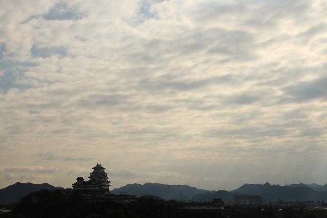 【2015/3/8撮影】山頂から見た姫路城