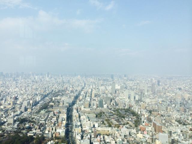 60階からの景色は、絶景!16階からの景色とは、やはり違います!くもじいになった気分♪