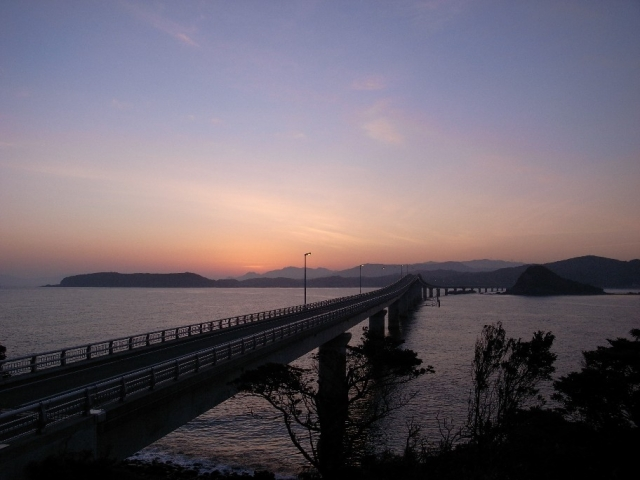 【2008/3/22撮影】角島からの朝焼け