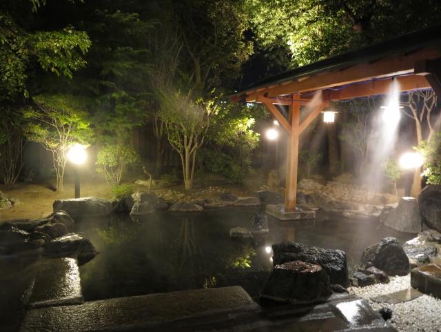 野天風呂「鳳松の湯」夜景