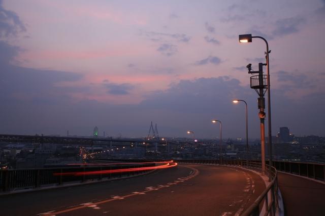 【2014/6/13撮影】最高部から大阪港方向