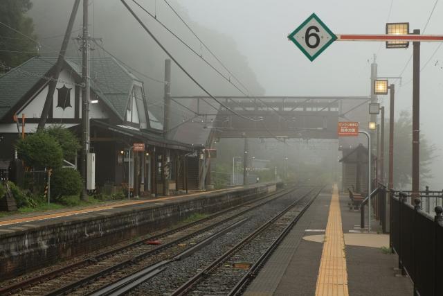【2014/8/16撮影】日本三大車窓、スイッチバックの姨捨駅
