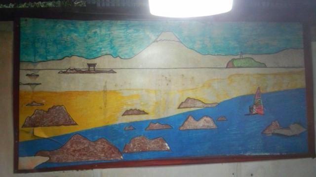 反対側の絵画