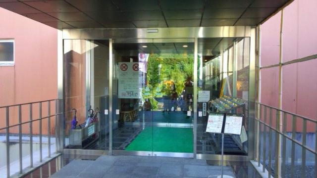 玄関(温泉博士で入場)