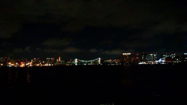 東京湾の夜景(2015年3月23日月)