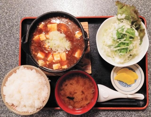 麻婆豆腐定食860円