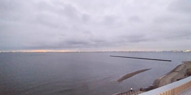 展望テラスからの東京湾の眺め
