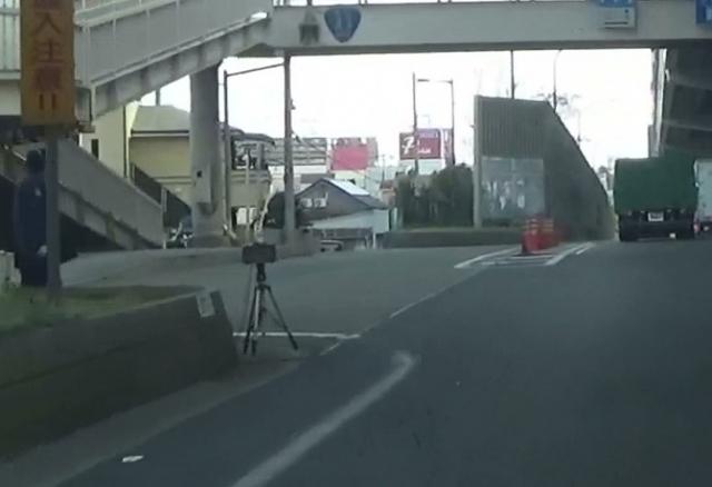 国道43号線石屋川にかかる橋の上で計測
