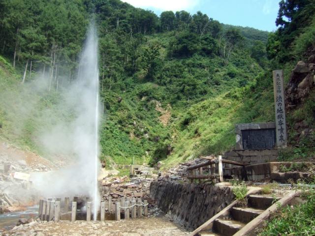 渋の地獄谷噴泉