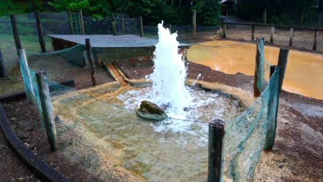 木部谷温泉 間歇泉