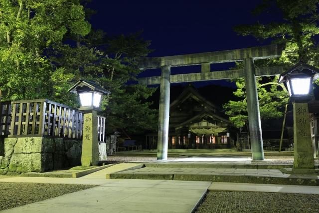 【2016/12/25撮影】四の鳥居と拝殿
