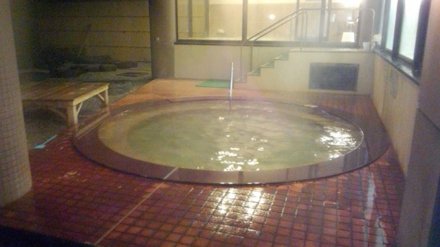 掛け流しの露天風呂