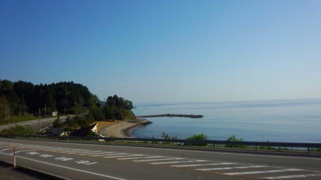 道の駅から海岸の眺め