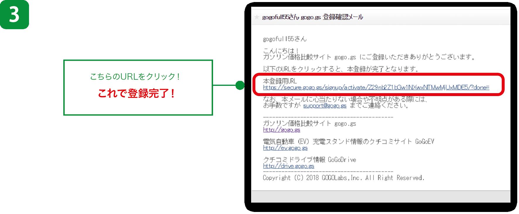 ユーザー登録3ステップ